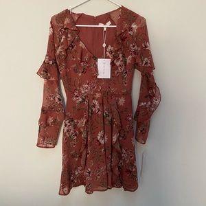 BNWT WAYF women's long sleeve mini dress XS
